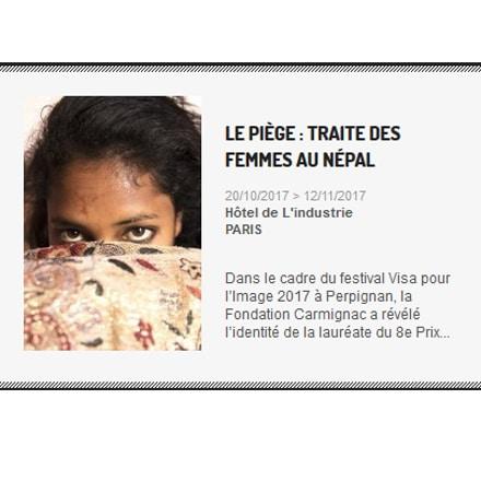Exposition sur la traite des femmes au Népal