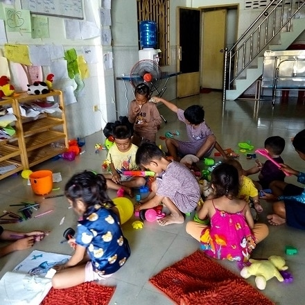 Cambodia: A social center to welcome children after school
