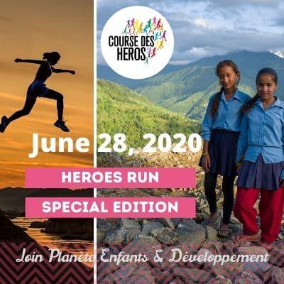 Heroes run 2020 : running for girls in Nepal