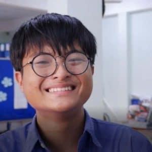 Portrait d'un étudiant au Vietnam