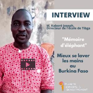 Photo de M. Kaboré, directeur d'école au Burkina Faso