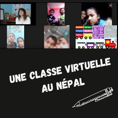 Une classe virtuelle pour pallier la fermeture des écoles au Népal