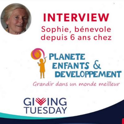 Giving Tuesday : Sophie, bénévole depuis 6 ans