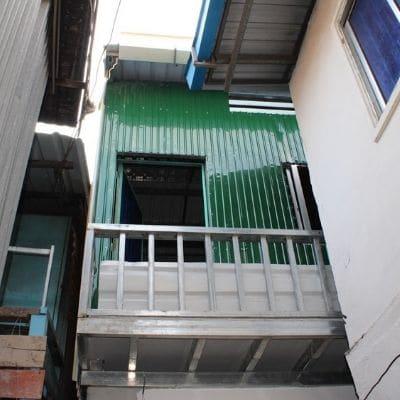Maison rénovée par PE&D dans un bidonville de Phnom Penh