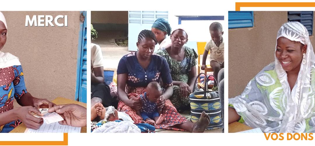 Burkina Faso : elles vous remercient pour vos dons